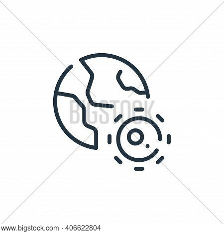earth icon isolated on white background from coronavirus collection. earth icon thin line outline li