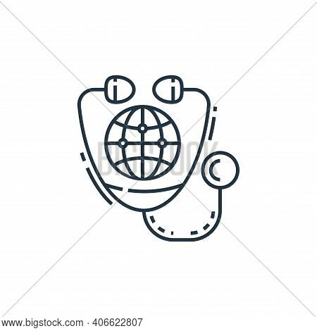 earth icon isolated on white background from environment and eco collection. earth icon thin line ou
