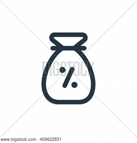 earning icon isolated on white background from web apps seo collection. earning icon thin line outli