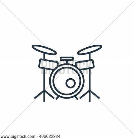 drums icon isolated on white background from music instruments collection. drums icon thin line outl