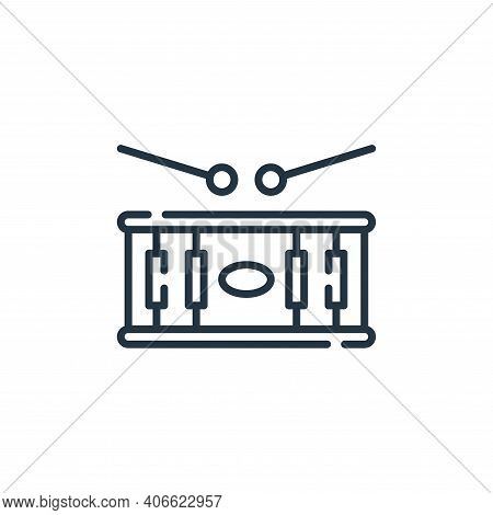 drum icon isolated on white background from circus collection. drum icon thin line outline linear dr