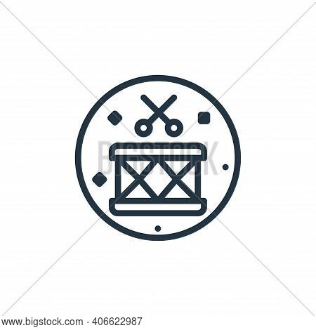 drum icon isolated on white background from music and sound collection. drum icon thin line outline