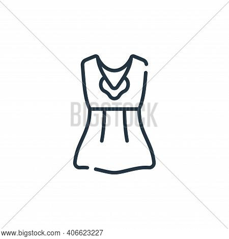 dress icon isolated on white background from italy collection. dress icon thin line outline linear d