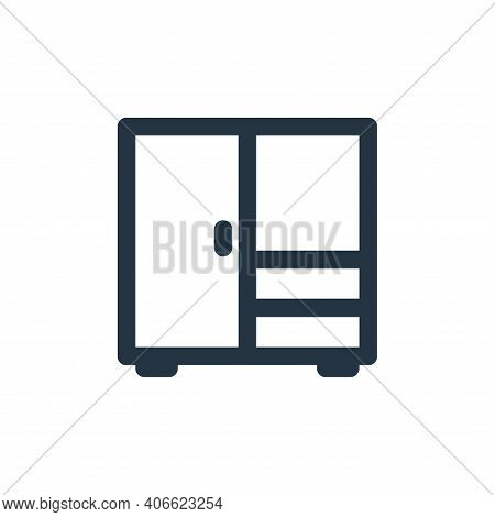 drawer icon isolated on white background from holiday collection. drawer icon thin line outline line