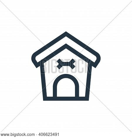Dog house icon isolated on white background from pet shop collection. Dog house icon thin line outli