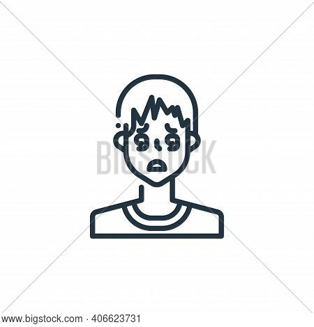 dizziness icon isolated on white background from virus transmission collection. dizziness icon thin