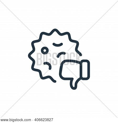 dislike icon isolated on white background from coronavirus collection. dislike icon thin line outlin