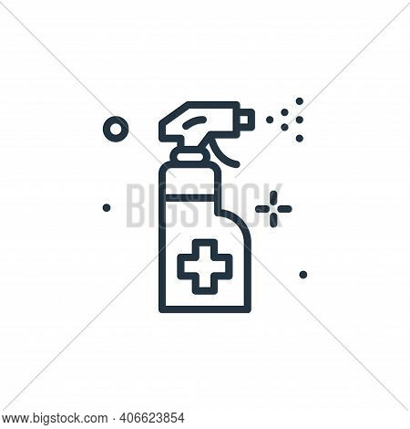 disinfectant icon isolated on white background from hygiene collection. disinfectant icon thin line