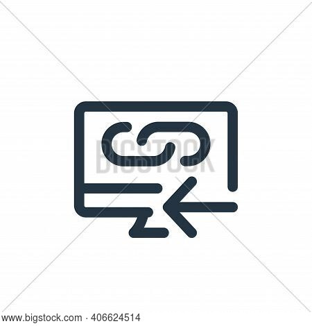 desktop icon isolated on white background from web apps seo collection. desktop icon thin line outli