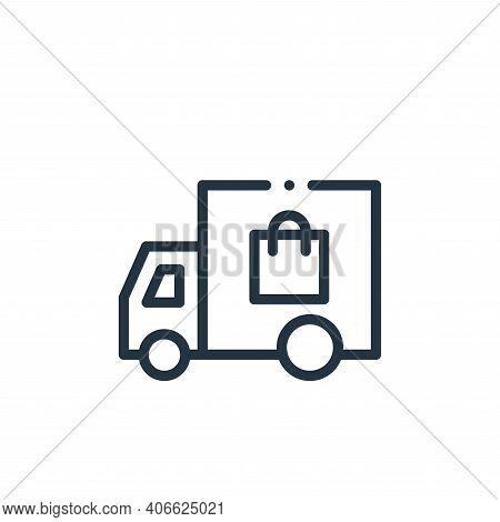 delivery car icon isolated on white background from online shopping collection. delivery car icon th