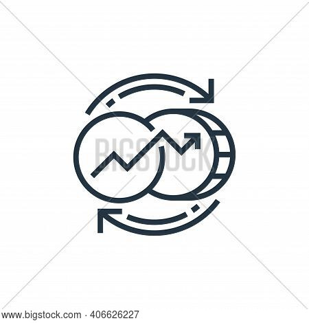 currency icon isolated on white background from economic crisis collection. currency icon thin line