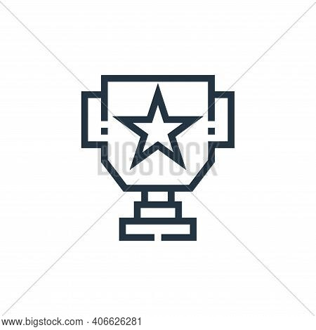 cup icon isolated on white background from web essentials collection. cup icon thin line outline lin