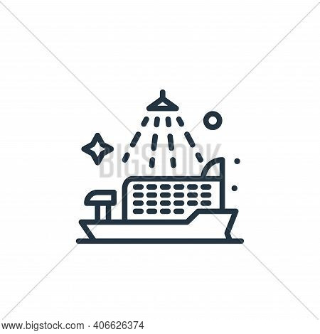 cruise ship icon isolated on white background from mass disinfection collection. cruise ship icon th