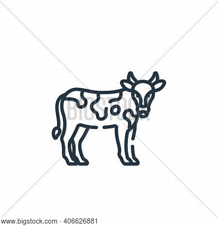 cow icon isolated on white background from smart farm collection. cow icon thin line outline linear