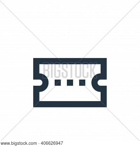 coupon icon isolated on white background from user interface collection. coupon icon thin line outli