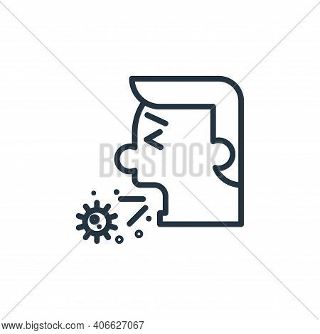 cough icon isolated on white background from pandemic collection. cough icon thin line outline linea