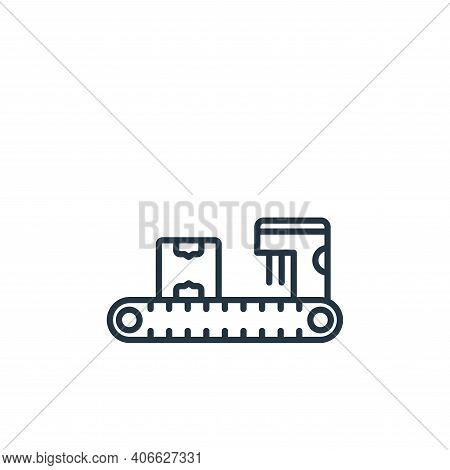 conveyor belt icon isolated on white background from shipping and delivery collection. conveyor belt