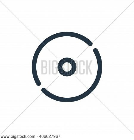 compact disk icon isolated on white background from multimedia collection. compact disk icon thin li