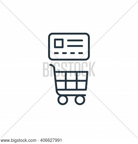 commerce icon isolated on white background from ecommerce collection. commerce icon thin line outlin