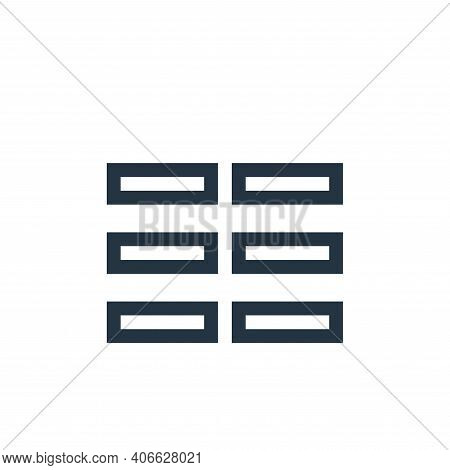 columns icon isolated on white background from text editor collection. columns icon thin line outlin