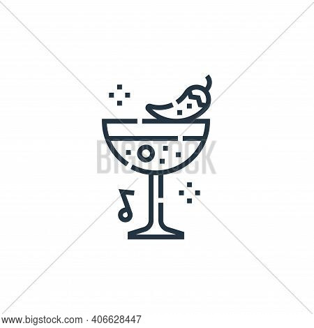 cocktail icon isolated on white background from cinco de mayo collection. cocktail icon thin line ou