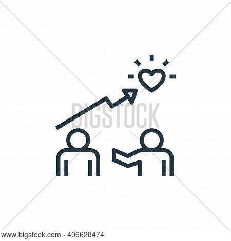 coaching icon isolated on white background from work life balance collection. coaching icon thin lin