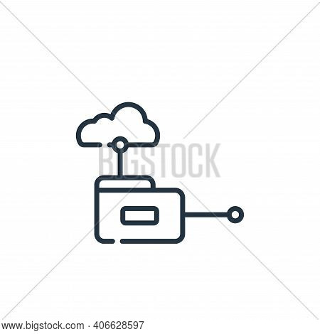 cloud computing icon isolated on white background from telecommuting collection. cloud computing ico