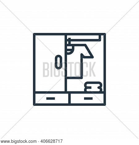 clothes icon isolated on white background from hotel collection. clothes icon thin line outline line