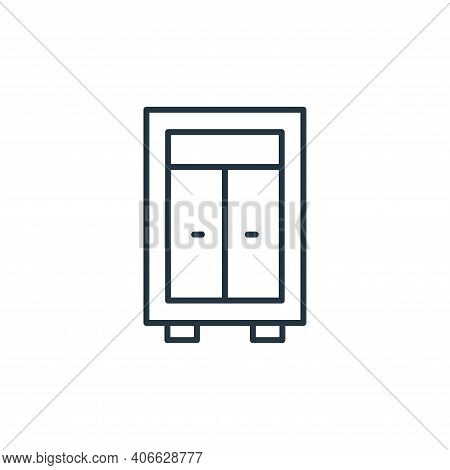closet icon isolated on white background from interiors collection. closet icon thin line outline li