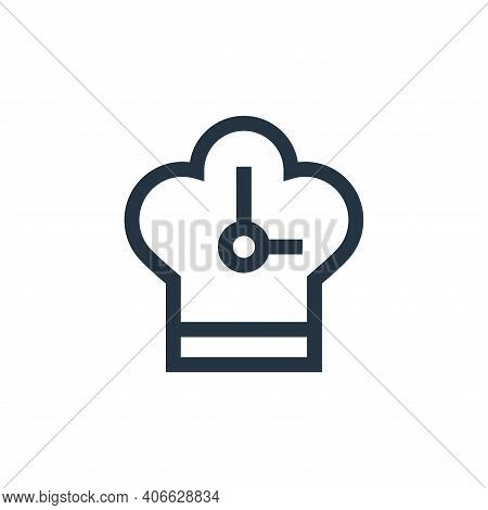 clock icon isolated on white background from nutrition collection. clock icon thin line outline line