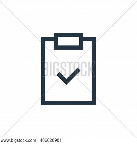 clipboard icon isolated on white background from web essentials collection. clipboard icon thin line