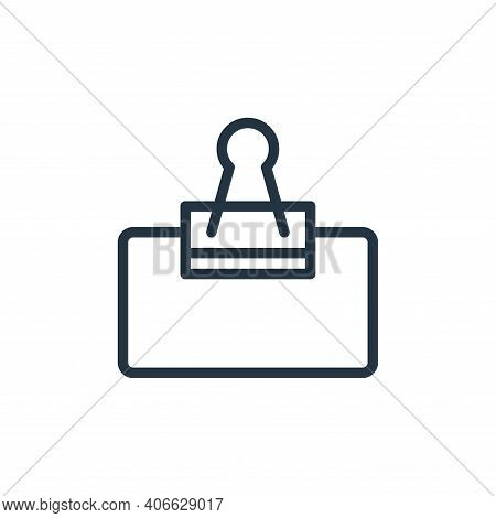 clip icon isolated on white background from school collection. clip icon thin line outline linear cl