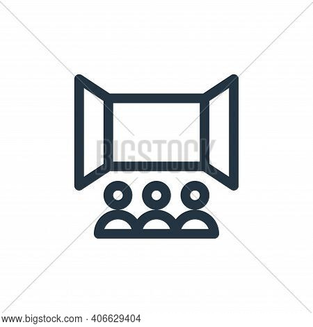 cinema icon isolated on white background from virtual reality collection. cinema icon thin line outl
