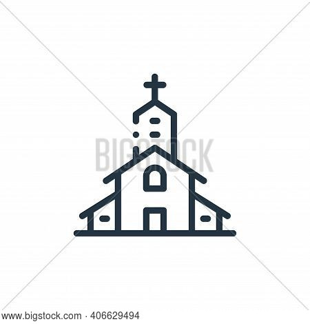 church icon isolated on white background from in the village collection. church icon thin line outli
