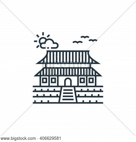 chinese temple icon isolated on white background from tourism collection. chinese temple icon thin l