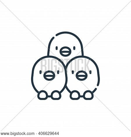 chickens icon isolated on white background from animal welfare collection. chickens icon thin line o