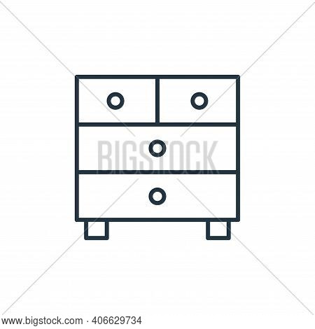 chest of drawers icon isolated on white background from interiors collection. chest of drawers icon