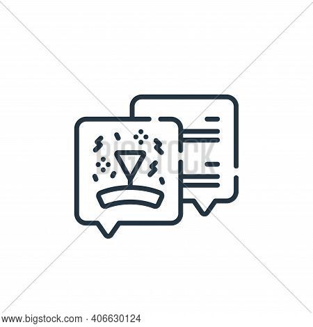 chat icon isolated on white background from celebration collection. chat icon thin line outline line