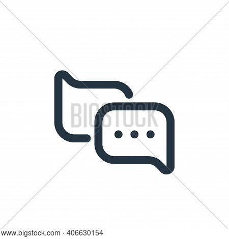 chat icon isolated on white background from seo collection. chat icon thin line outline linear chat