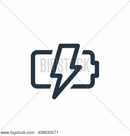 charging icon isolated on white background from user interface collection. charging icon thin line o