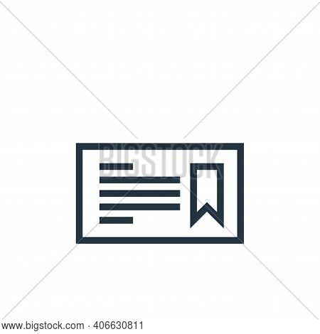 certificate icon isolated on white background from education collection. certificate icon thin line
