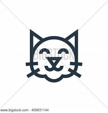cat icon isolated on white background from pet shop collection. cat icon thin line outline linear ca