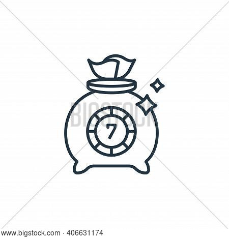 casino icon isolated on white background from casino collection. casino icon thin line outline linea