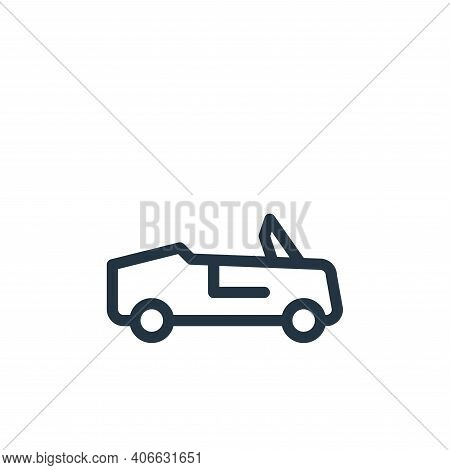 car icon isolated on white background from holiday collection. car icon thin line outline linear car