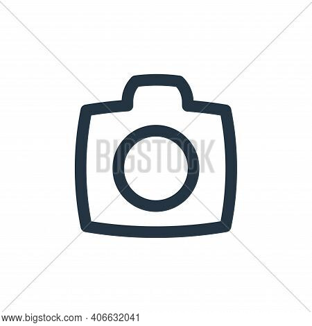camera icon isolated on white background from basic ui collection. camera icon thin line outline lin