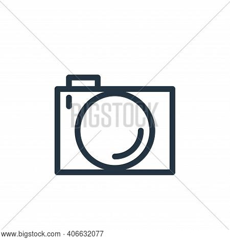 camera icon isolated on white background from technology collection. camera icon thin line outline l