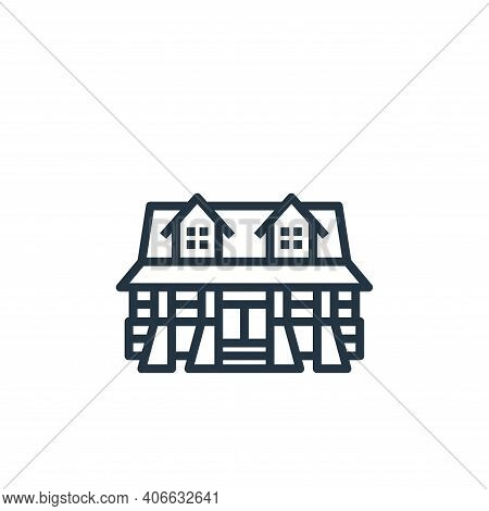 cabin icon isolated on white background from camping collection. cabin icon thin line outline linear