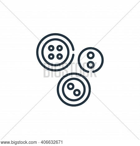 buttons icon isolated on white background from sewing collection. buttons icon thin line outline lin