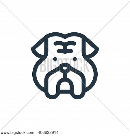 bulldog icon isolated on white background from england collection. bulldog icon thin line outline li