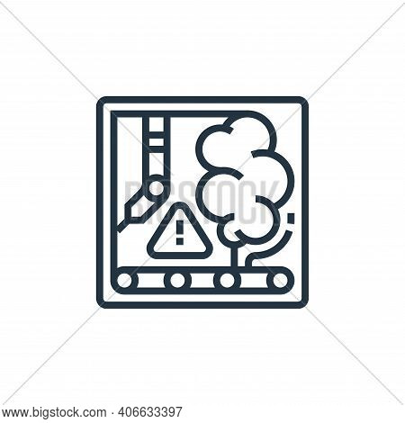 breakdown icon isolated on white background from business risks collection. breakdown icon thin line